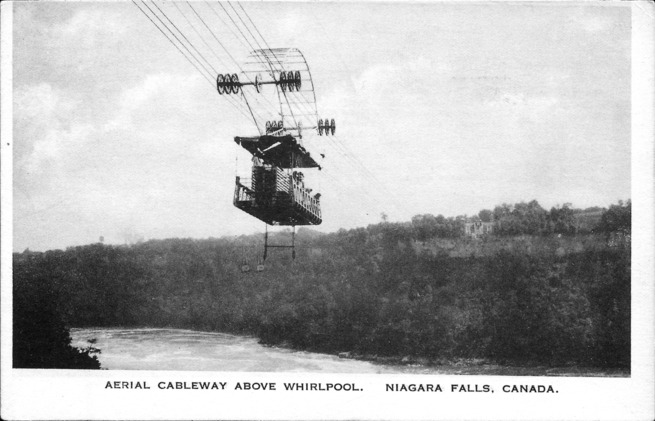 [Aerial Cableway Above Whirlpool Postcard]