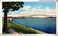 Blue-Water International Bridge Between Port Huron, Mich. and Sarnia, Ontario Postcard