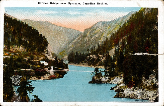 [Cariboo Bridge Near Spuzzum, Canadian Rockies Postcard]