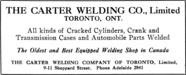 The Carter Welding Co. Advertisement