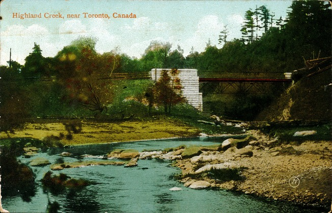 [Highland Creek, near Toronto, Canada Postcard]