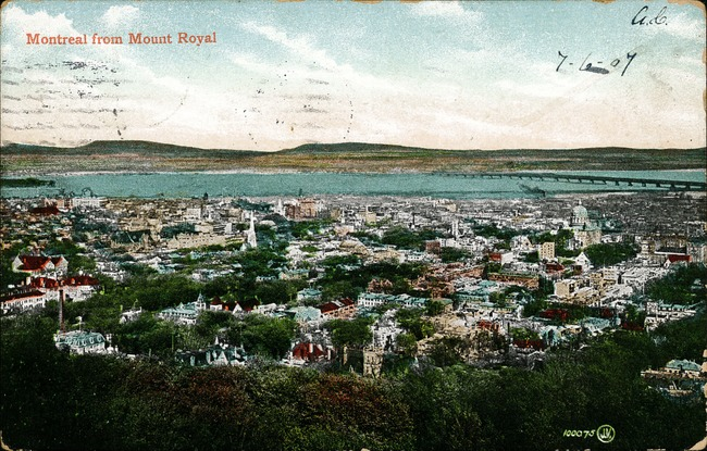 [Montreal from Mount Royal Postcard]