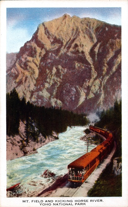 [Mt. Field and Kicking Horse River, Yoho National Park Postcard]