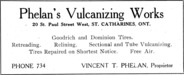 Phelan's Vulcanizing Works Advertisement