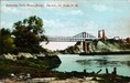 Reversing Falls Below Bridge, Low Tide, St. John N. B. Postcard