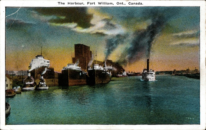 [The Harbour, Fort William, Ont., Canada Postcard]