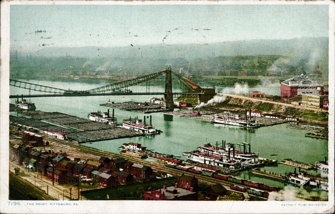 [The Point, Pittsburg, Pa. Postcard]