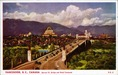 Vancouver, B. C., Canada: Burrard St. Bridge and Hotel Vancouver Postcard