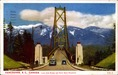 Vancouver, B. C., Canada: Lions Gate Bridge and North Shore Mountains Postcard