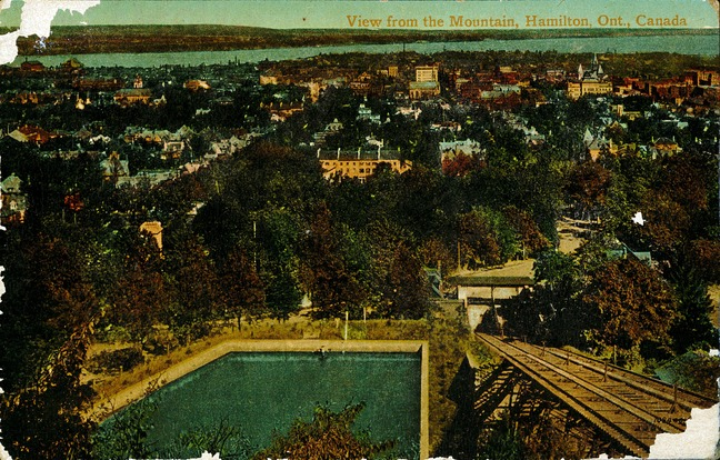 [View from the Mountain, Hamilton, Ont., Canada Postcard]