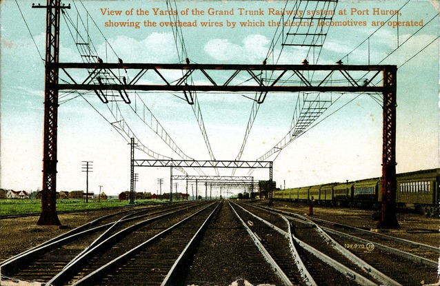 [View of the Yards of the Grand Trunk Railway System at Port Huron Postcard]