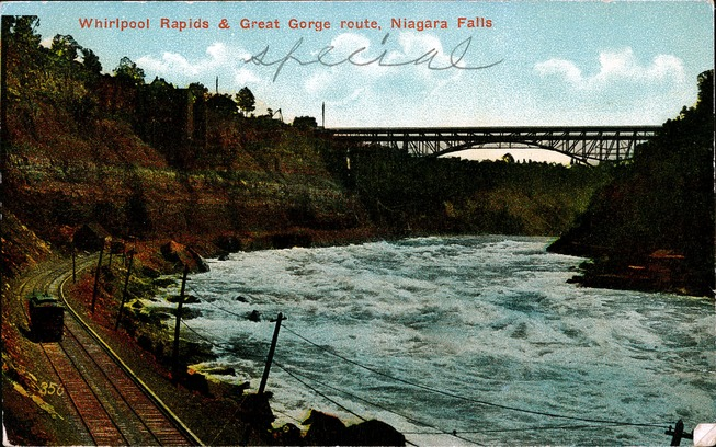 [Whirlpool Rapids and Great Gorge Route Postcard]